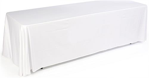 3 Sided White Table Cover Fits 8 Foot Long Tables