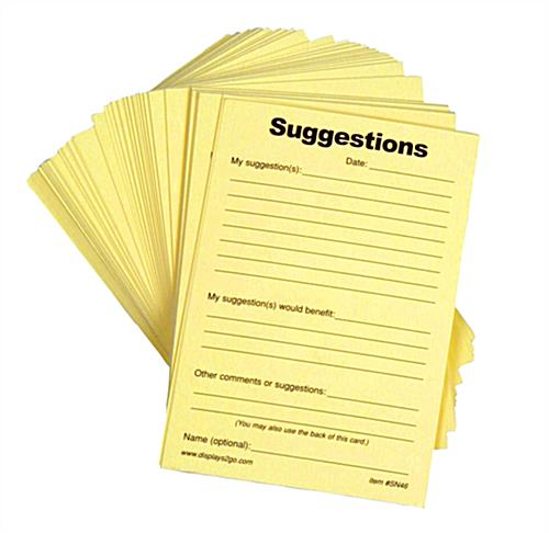 Suggestion Forms - Pad of 100