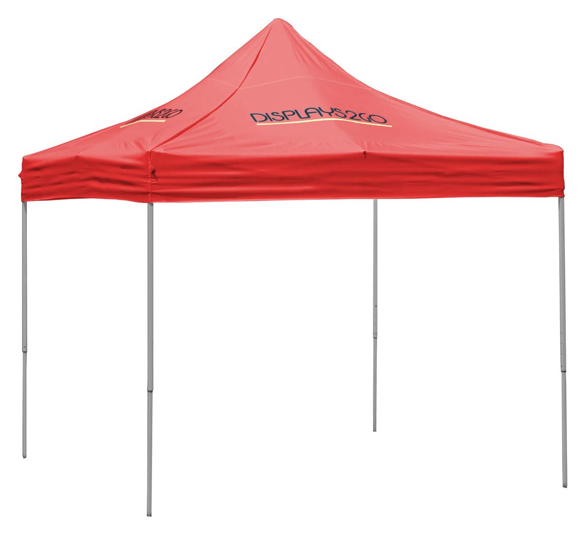 Pop Up Canopy 10 X 10 Outdoor Canopy Tent With 4 Custom Imprints Pop Up Square Red