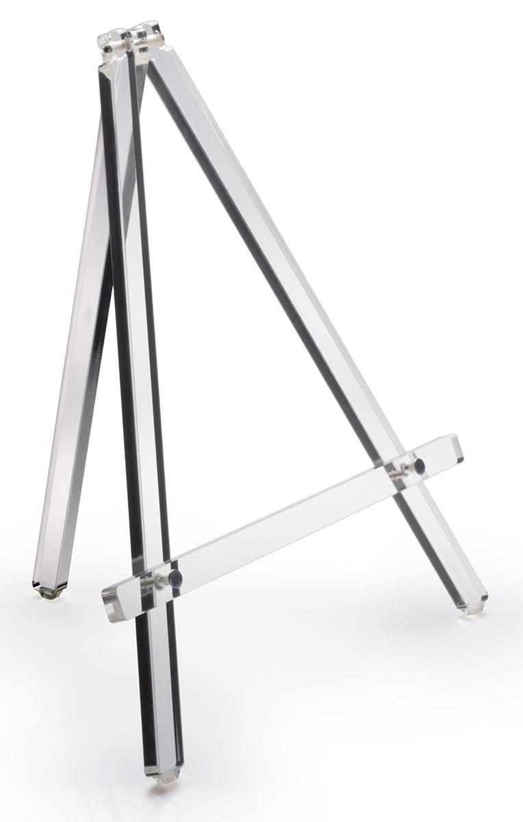 Easels Workshop Series Acrylic Tabletop Easel Standard Tripod Design 12 75 X 14 75 Clear