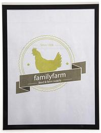 Black Wall Mounted Sign Holder - 8.5 x 11