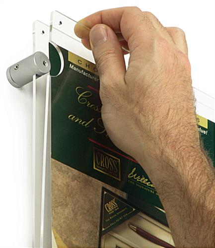 Acrylic Panoramic Poster Frames Edge Grip Standoff Mounting