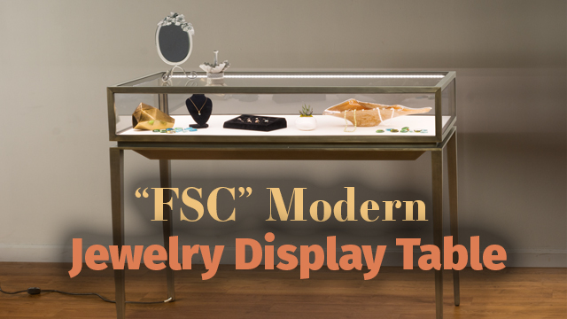 Modern Jewelry Display Table Tapered Legs