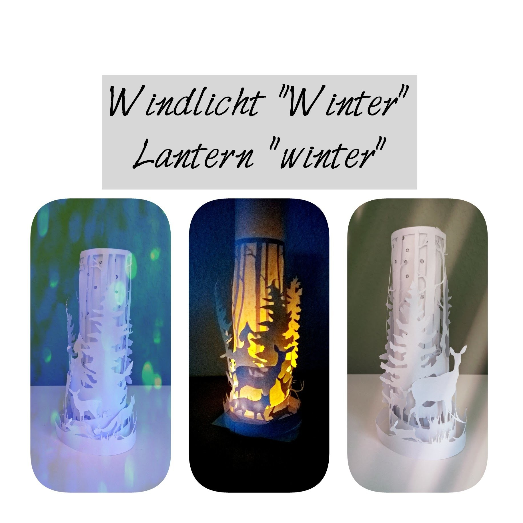 Bastelideen Winter Windlicht Winter Basteln Paper Lantern Winter