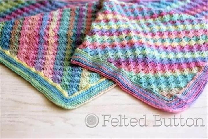 13 Free Corner To Corner Baby Crochet Blanket Patterns