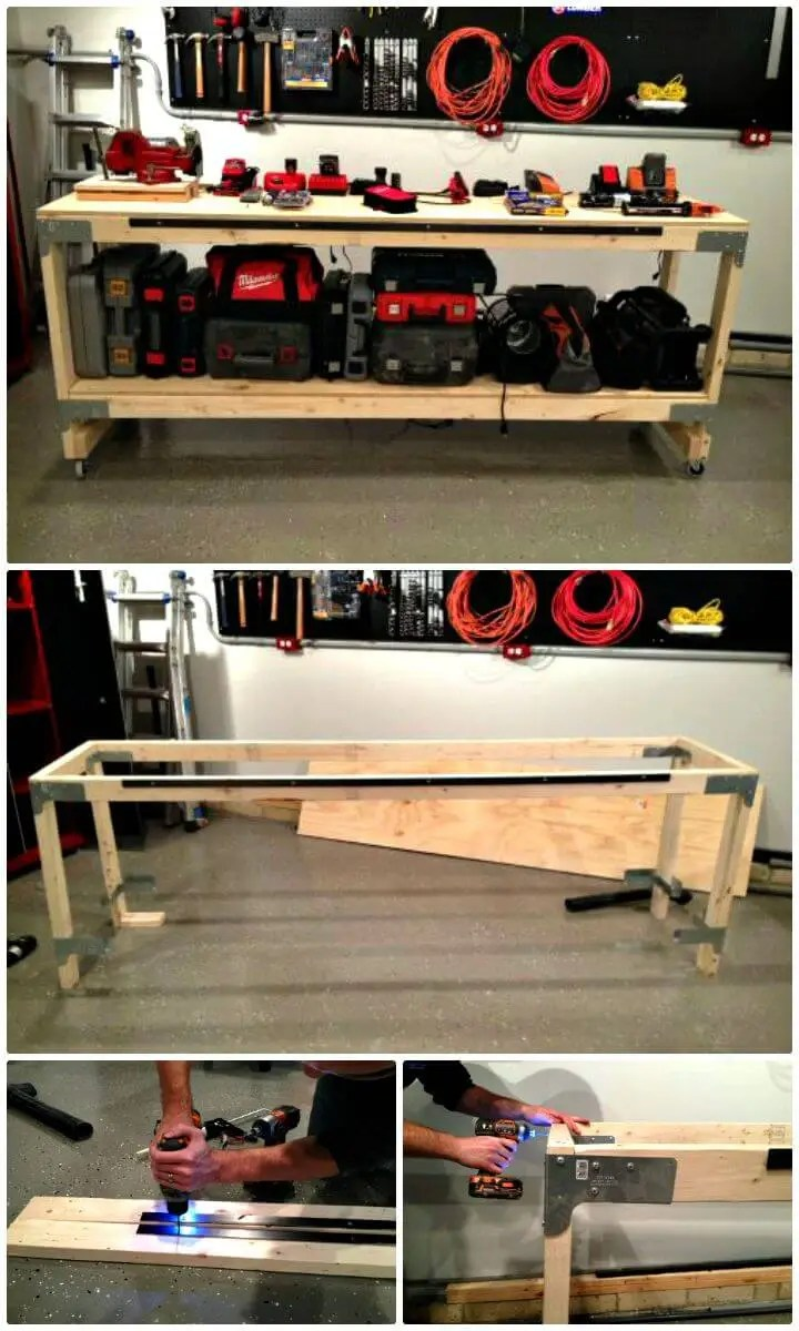 Diy Workbench With Wheels 40 Workbench Plans That Are Cheap And Easy To Build Diy Crafts