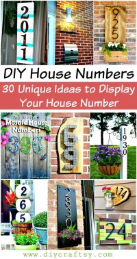 DIY House Numbers - 30 Unique Ideas to Display Your House ...