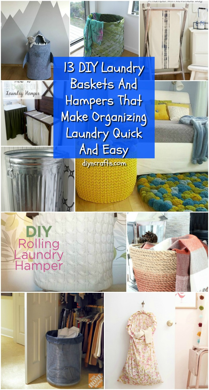 Cute Laundry Hamper 13 Diy Laundry Baskets And Hampers That Make Organizing Laundry