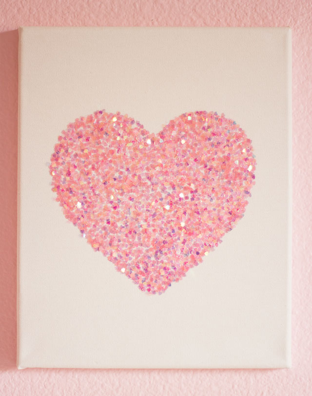 Pink Flower And Heart Wallpaper For Little Girls 10 Easy Glitter Wall Art Diys
