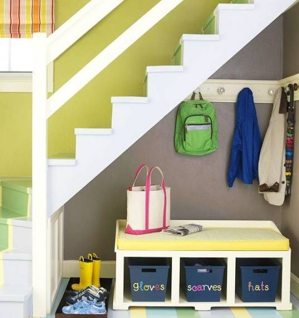 Creative Ways to Put the Space Under Your Stairs to Good Use - under stairs kitchen storage