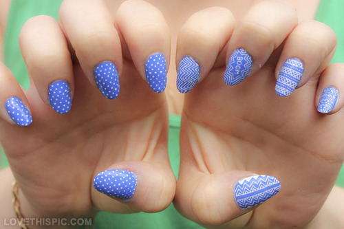 Cute Nails To Show Off Your Love For Blue