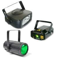Beamz Light Package-4 LED DJ Lighting Effect Pack - DJ City