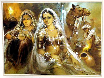 Sad Wallpaper Punjabi Girl Banjara Beauties Reprint On Paper 13 X 17 Inches