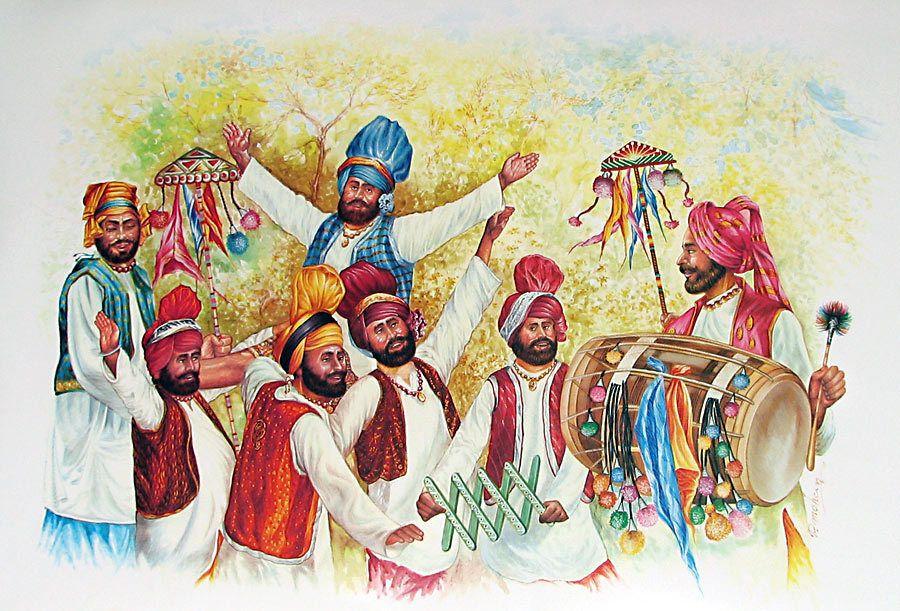 Punjabi Boy And Girl Wallpaper Bhangra Dancers From Punjab