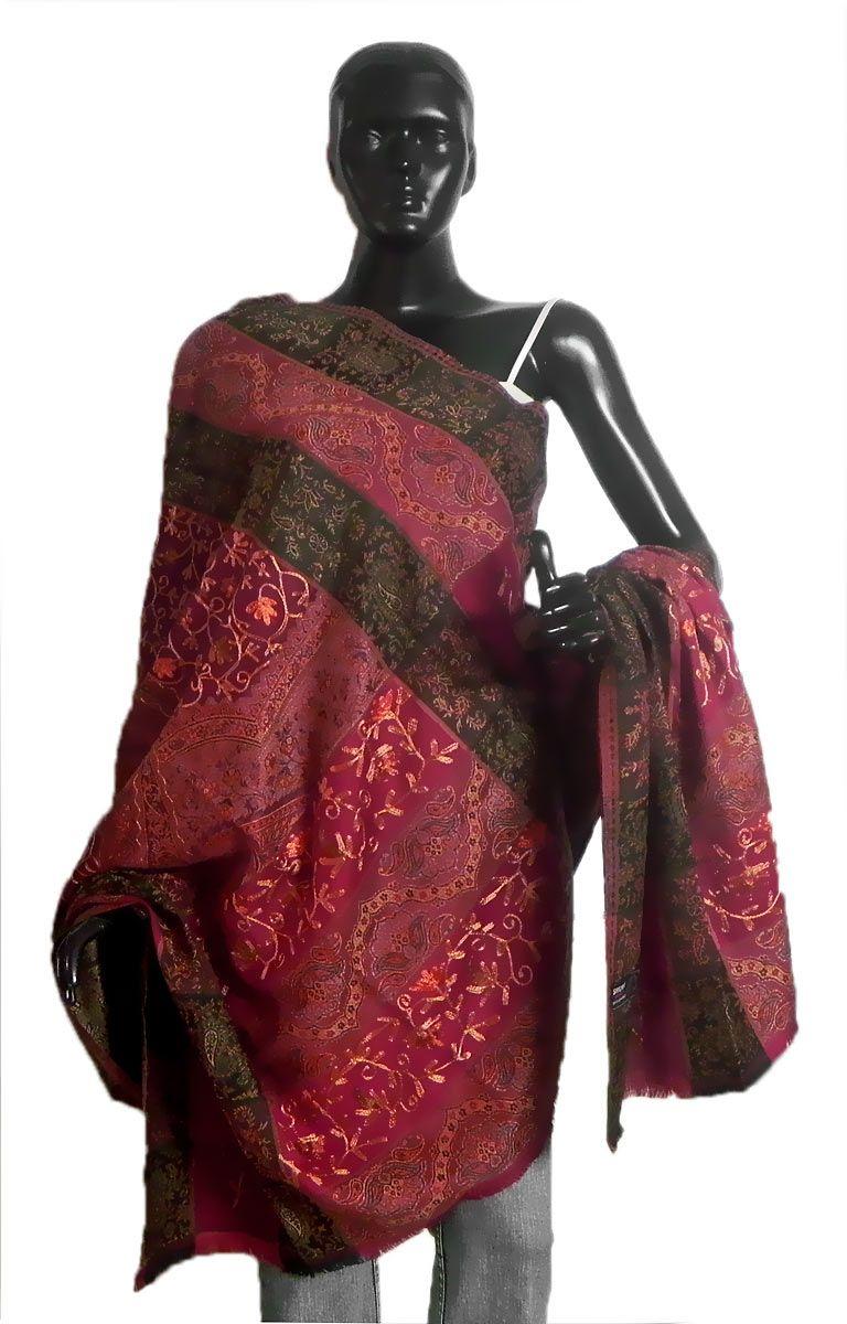 Shop Online Embroidered Woolen Shawl