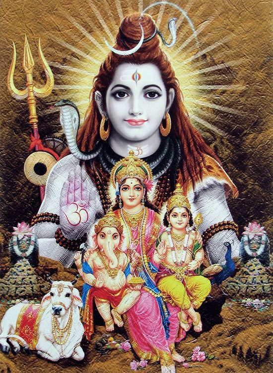 Shiva Lingam Hd Wallpapers Lord Shiva With His Family