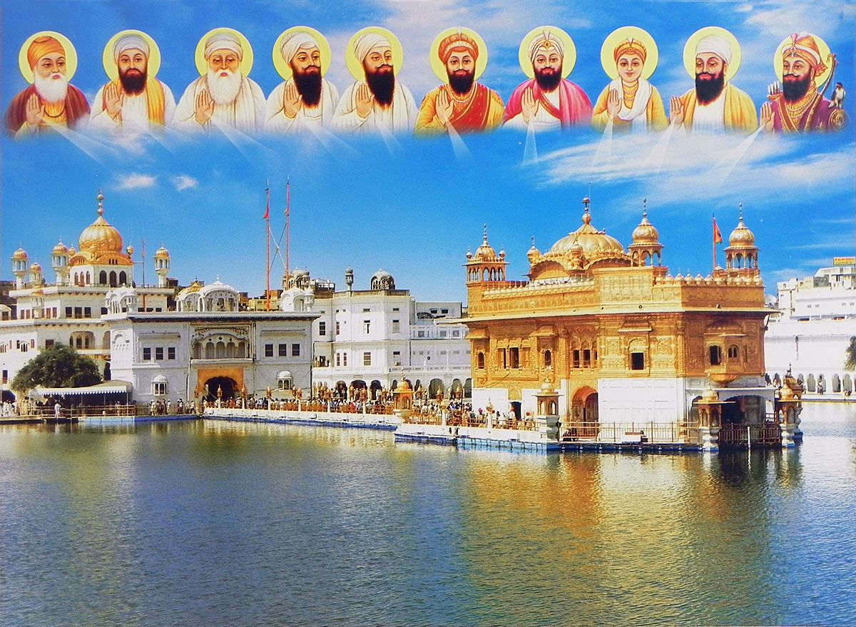 Temple Quotes Wallpaper Pc Hd Golden Temple Of Amritsar With Ten Gurus 14 X 19 Inches