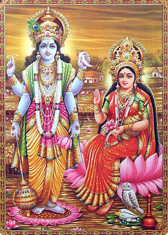 Vishnu 3d Wallpaper Vishnu And His Consort Lakshmi