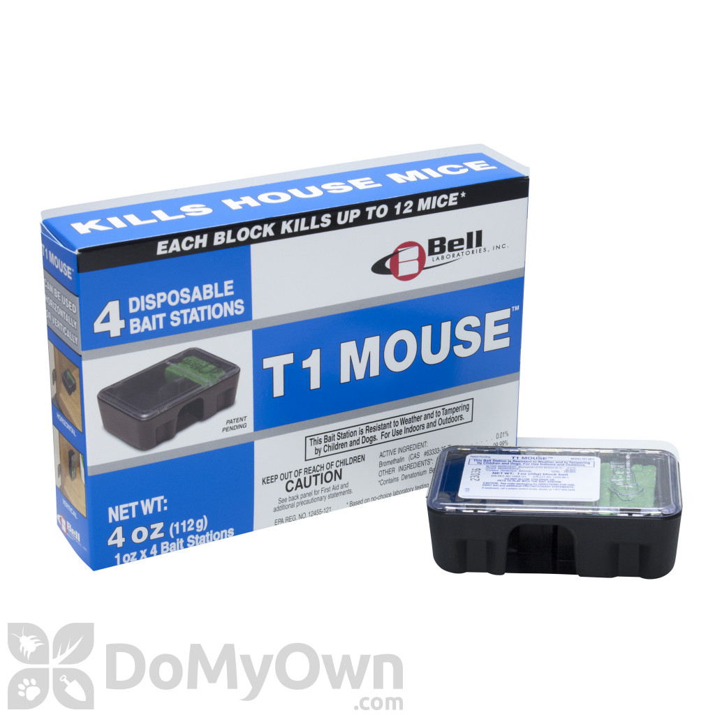 Mouse Bait Boxes T1 Mouse Pre Baited Disposable Bait Stations 4 Pack