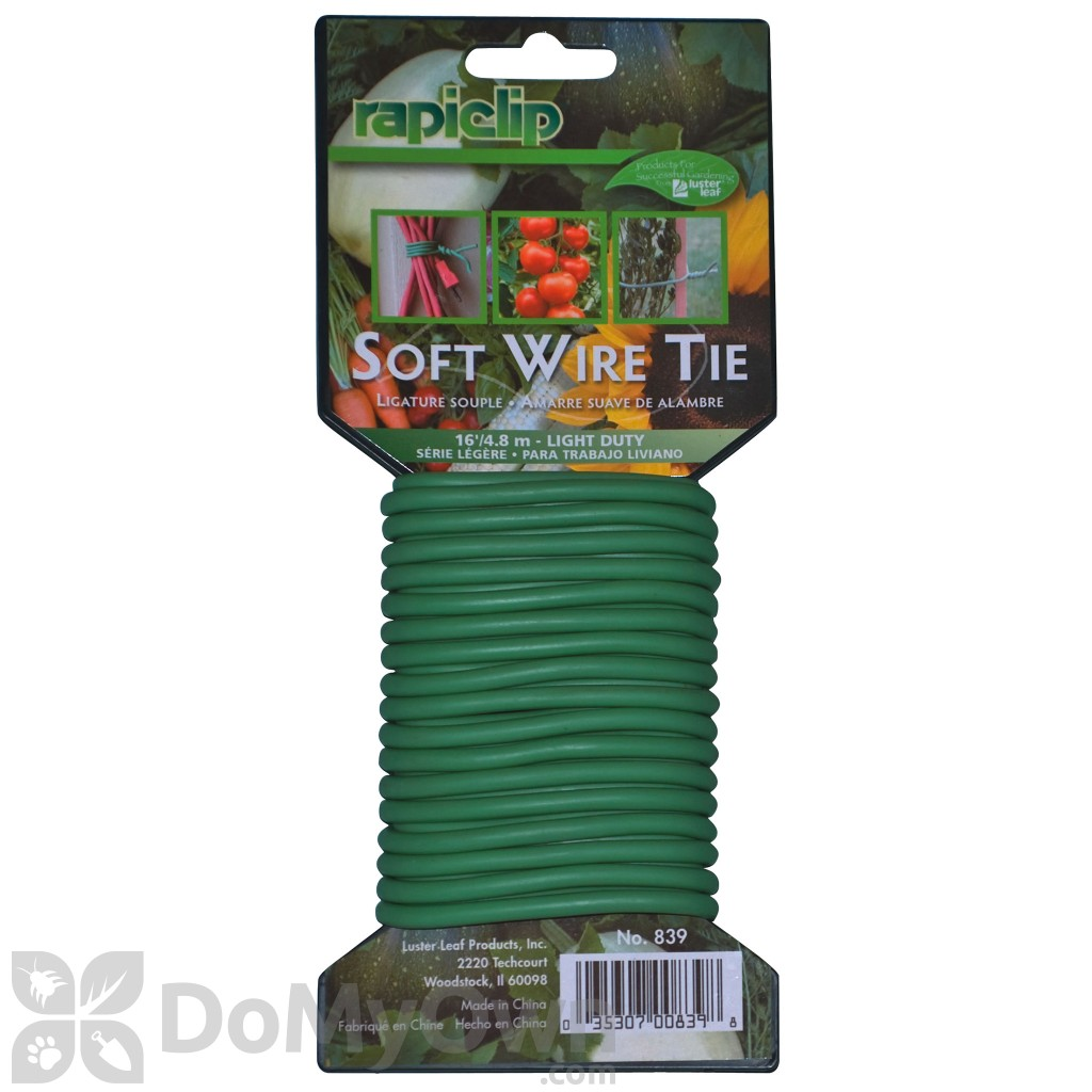 Lüster Luster Leaf Rapiclip Light Duty Soft Wire Plant Tie 16 Ft