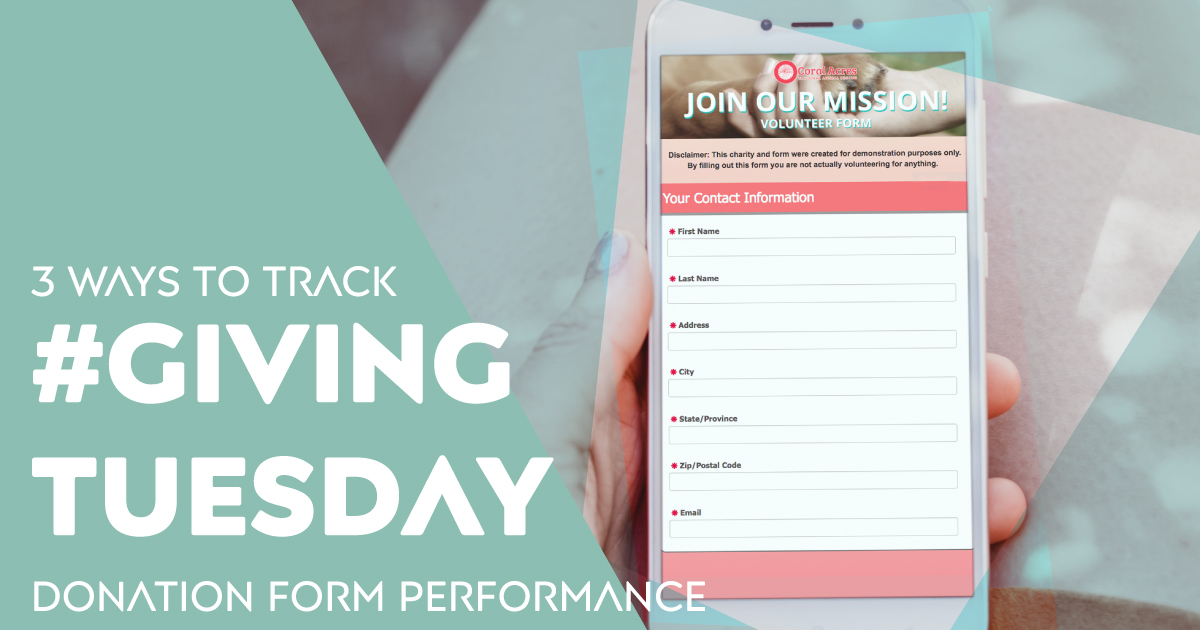 3 Ways to Track #GivingTuesday Donation Form Performance