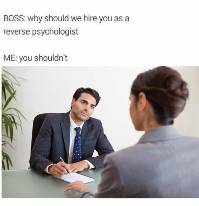 dopl3r - Memes - BOSS why should we hire you as a reverse - why should i hire you