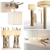 Houses Design: Driftwood Decor: 24 Dramatic Art Lamps ...