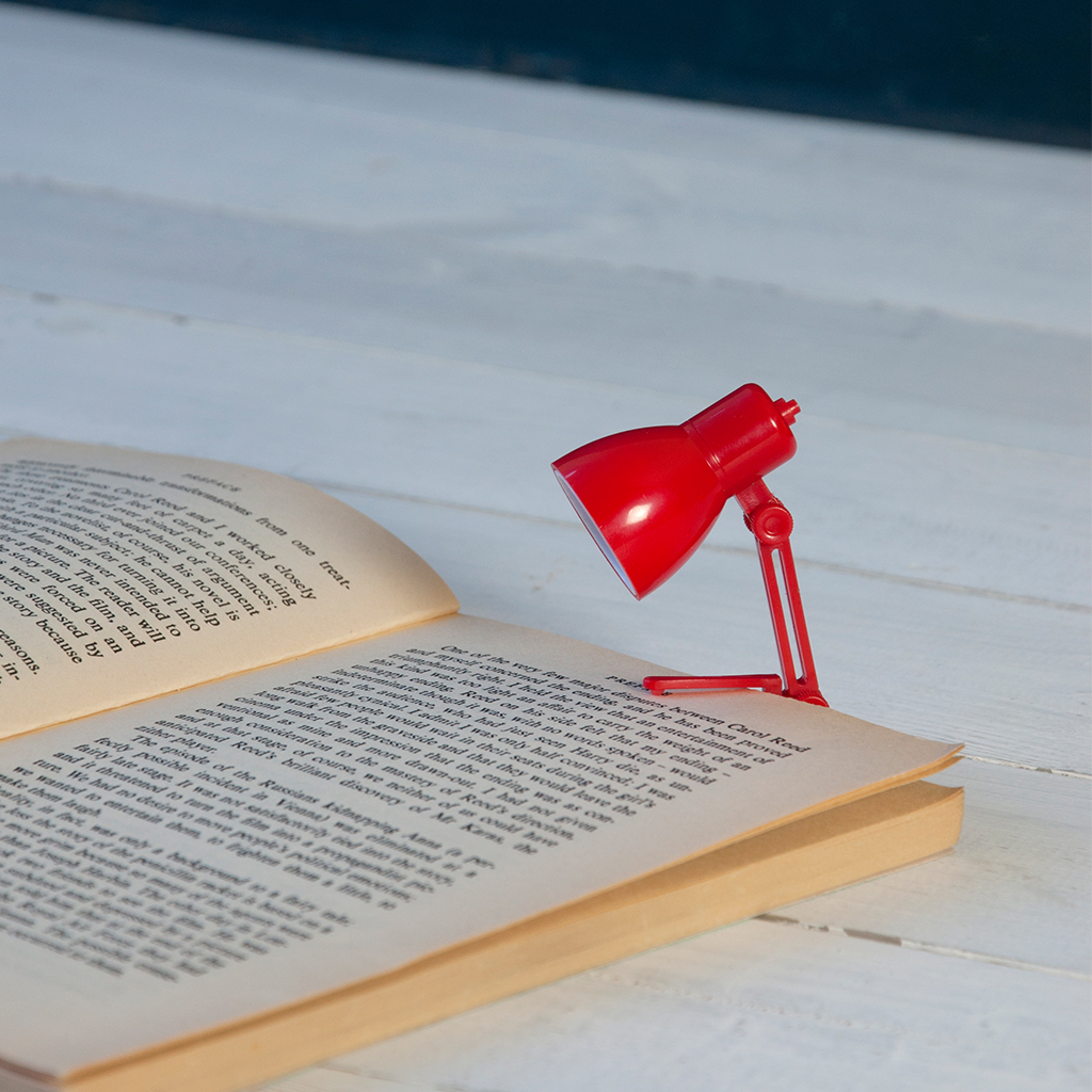 Red Light Reading Lamp Mini Reading Book Lamp Red Rex London At Dotcomgiftshop