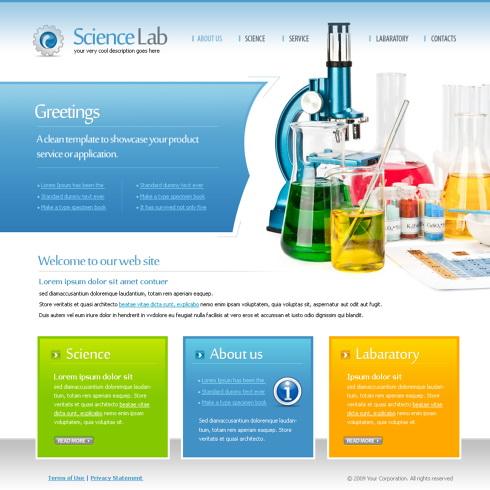 6106 - Futuristic  Science - Website Templates - DreamTemplate