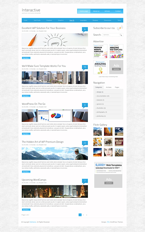 Interactive - Webpage Template - Web Blog - Personal - CSS Templates - interactive website template