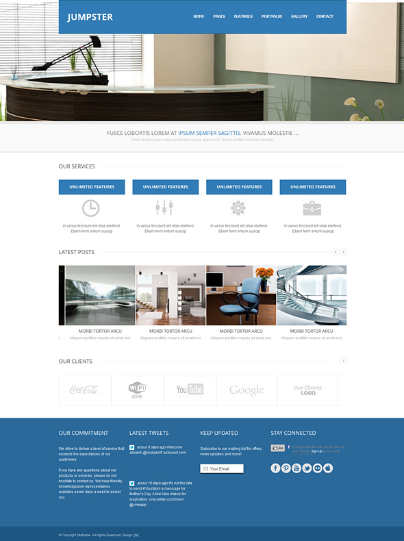 Jumpster - Responsive Website Template - Responsive Website