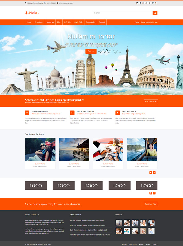 Holtra - Boostrap Website Template - Bootstrap Templates - Pro
