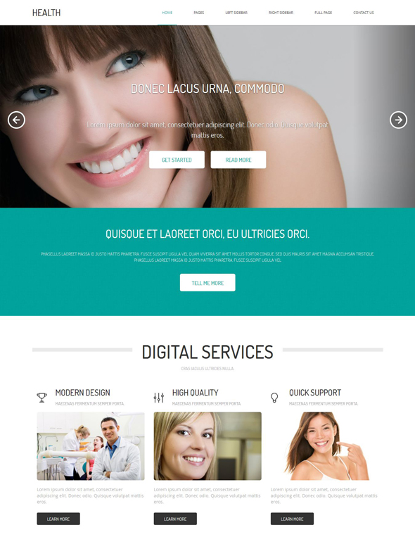 Dental Web Template - Health - Website Templates - DreamTemplate
