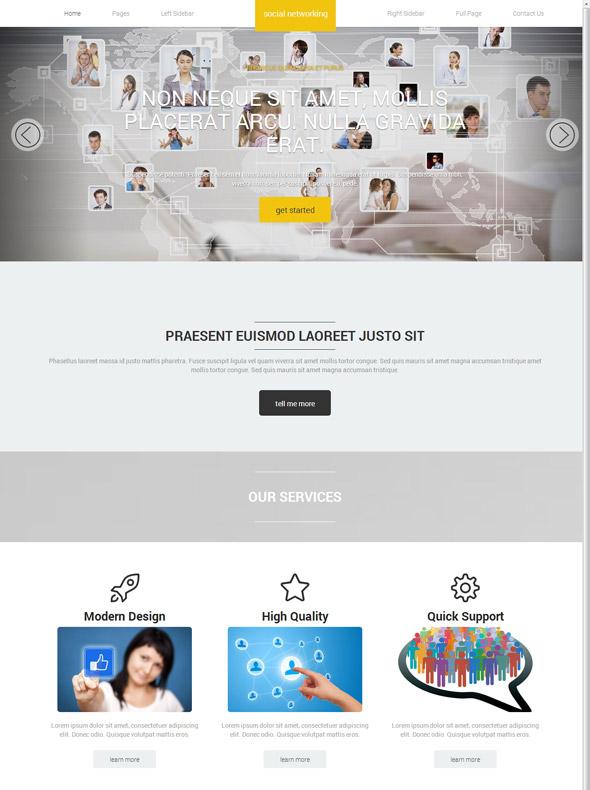 Social Networking Website Template - Social Networking - Website