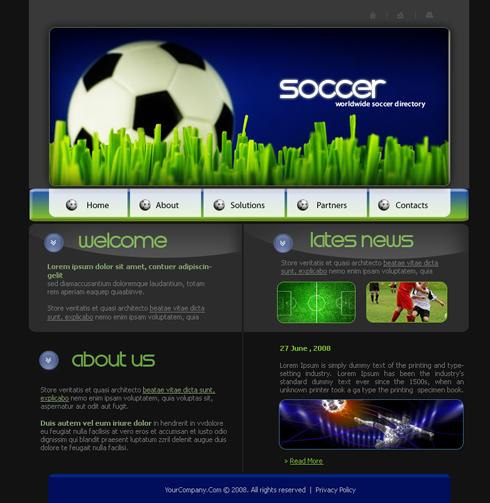 3631 - Sports  Fitness - Website Templates - DreamTemplate