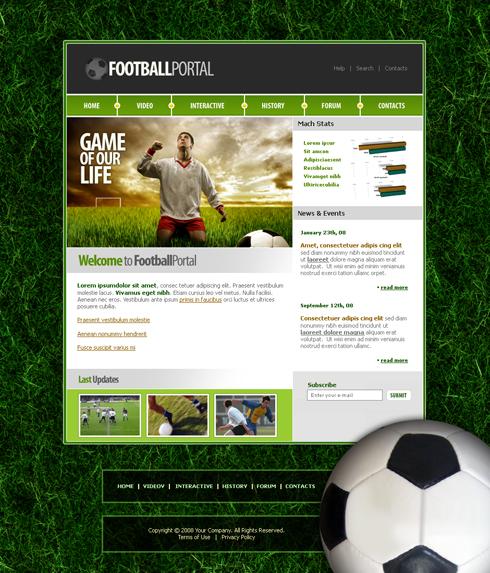 3671 - Sports  Fitness - Website Templates - DreamTemplate