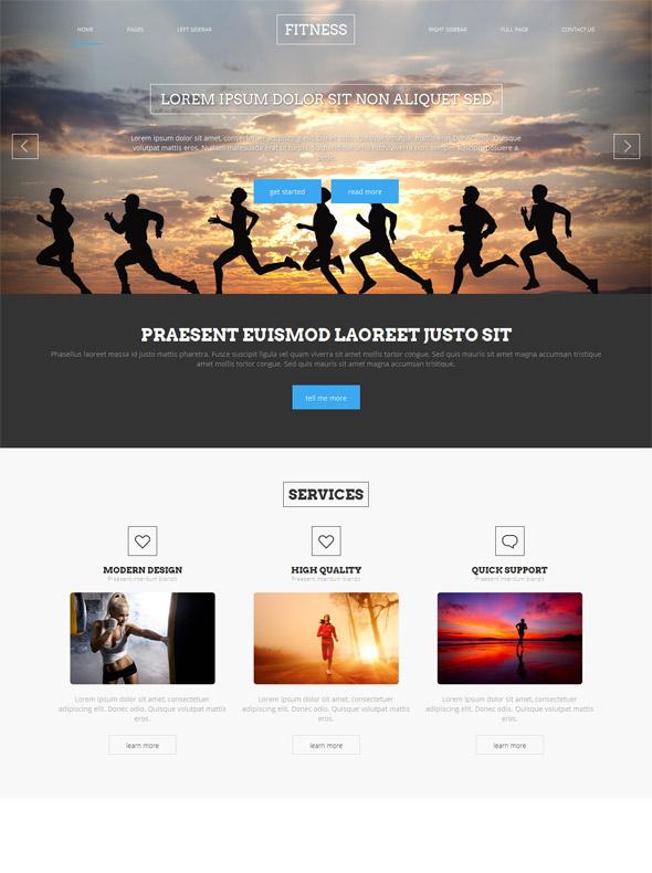 Sprint Running Website Template - Sports  Fitness - Website