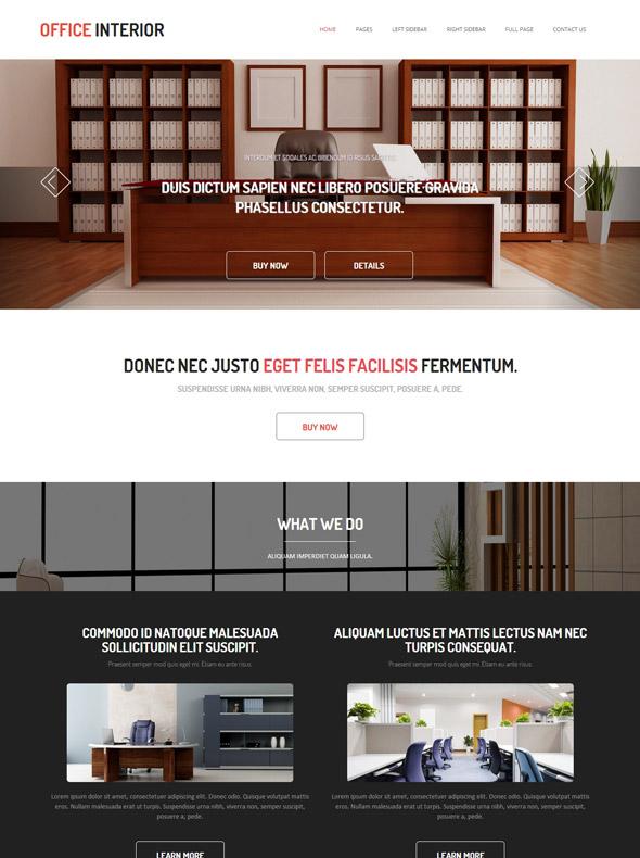 Office Interior Design Website Template - Office Interior - Interior