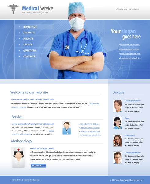 6077 - Medical - Website Templates - DreamTemplate - doctor office website template