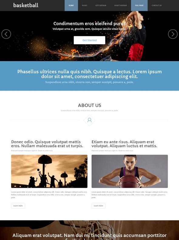 Fantasy Basketball Site Template - Basketball - Sports - DreamTemplate