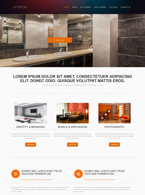 Interior Design Web Template - Interior  Furniture - Website - interior design web template