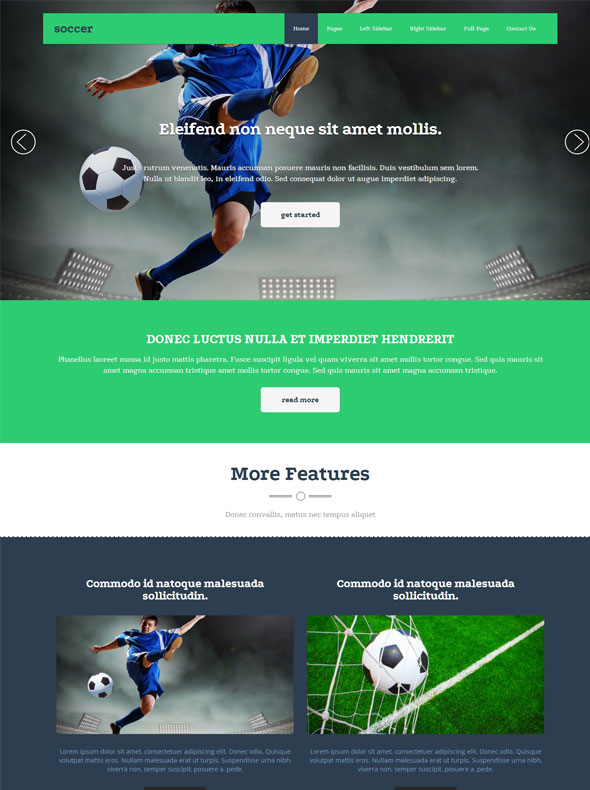 Soccer Sport Website Template - Soccer - Sports - DreamTemplate