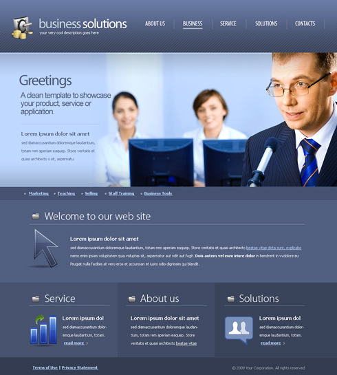 Decision Making Web Template - 6172 - Business - Website Templates