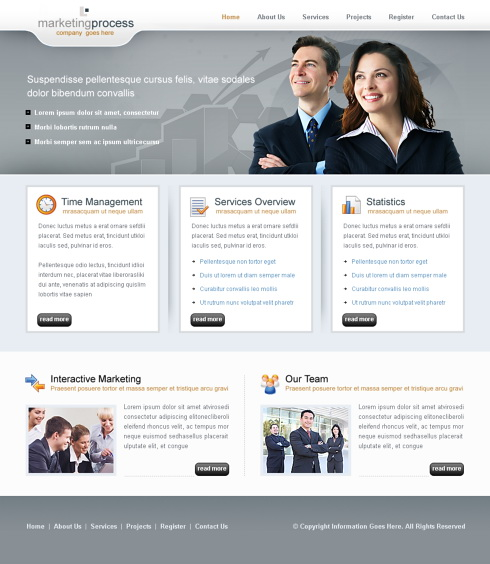 Business Clean Website Template - 6311 - Business - Website