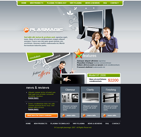 Online Shopping CSS Template - 2456 - Electronics  Gadgets