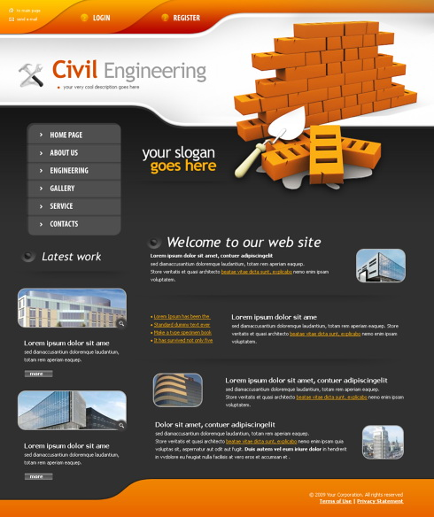Road Works Web Template - 4343 - Construction  Engineering