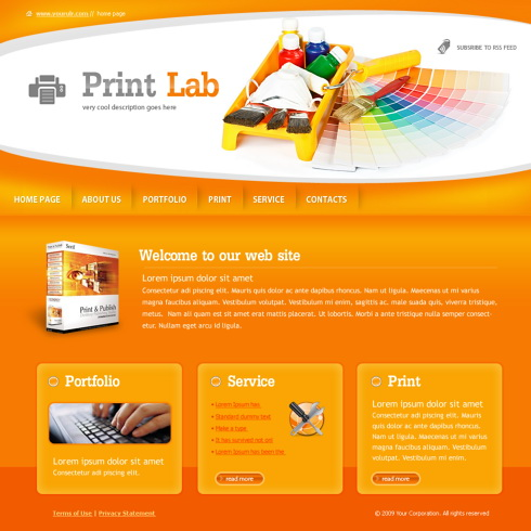 Print Lab Website Template - 6028 - Art  Photography - Website - templates