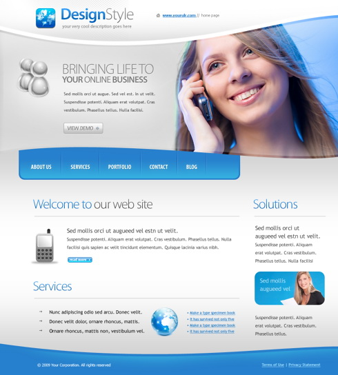 Chatting Web Template - 5625 - Communications - Website Templates