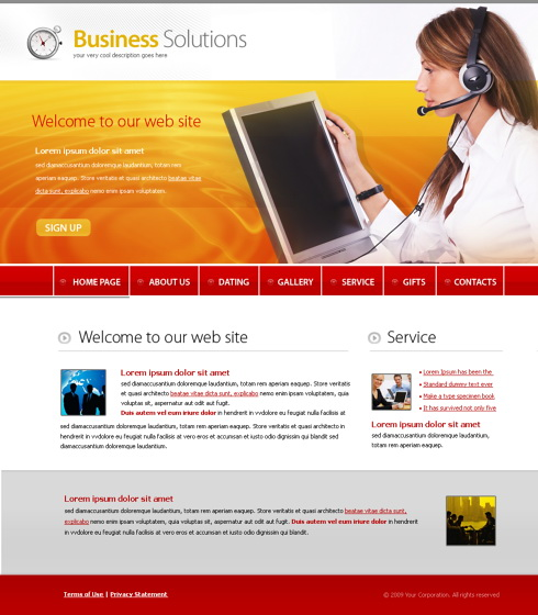 TeleMarketing XHTML Template - 5630 - Communications - Website - 5630 template