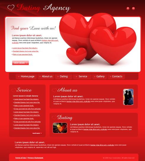 5407 - Flash - Dating  Love - Flash Templates - DreamTemplate